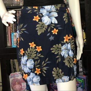 Size 12 Tropical floral print skort/skirt